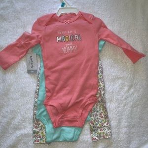 Baby Girl 3 Piece Unicorn Outfit